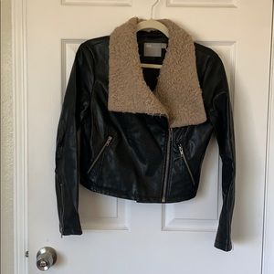 ASOS pleather jacket with trim